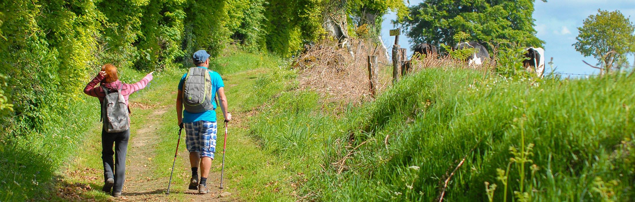 """Les 23 premiers circuits sont réunis dans le guide de randonnée """"Le Bocage Normand"""" en vente à 10 €, que vous pouvez vous procurer dans nos antennes, ou 1"""